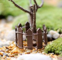 Wholesale house home decor for sale - Group buy Wood Animal Wood Fence Palisade Miniature Fairy Garden Home Houses Decoration Mini Craft Micro Landscaping Decor Accessories