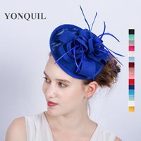 Wholesale women chic hats for sale - Group buy 15Colors Women Chic wedding Fascinator Hats Cocktail Wedding Party Church Headpiece Headband hair accessories decoration SYF171