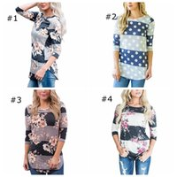 Wholesale Maternity T Clothes - Casual Long Sleeve Printed Floral Flower T Shirt Women Top Tees Summer Autumn T Shirt Femme Ladies Tshirt Clothes Maternity Tops