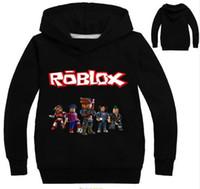 erkek çocuklar kırmızı sweatshirt toptan satış-Roblox Hoodies Gömlek Boys Için Kazak Kırmızı Noze Gün Kostüm Çocuk Spor Gömlek Kazak Çocuklar Için Uzun Kollu T-shirt Tops
