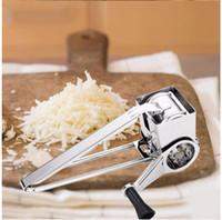 ingrosso torte di formaggio-Grattugia per formaggio Attrezzo per feste Affettatrice per formaggi in acciaio inossidabile Formaggio per burro da cucina per torta Fonduta al cioccolato Strumenti per cottura