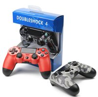 Wholesale Controller Gamecube - Wired PS4 Game Controller Golden Camoflage Joystick Game Pad Double Shock universal USB Controller Console Gamecube for Video Games