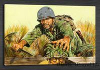 boda bıçakları toptan satış-Askerler Bıçak Ordu 1 Adet Ev Dekorasyonu HD Baskılı Modern Sanat Tuval Üzerine Boyama (Çerçevesiz / Çerçeveli)