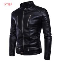 Wholesale race leather jacket - Motorcycle Wear Men Racing Motorcycle Jacket Winter Motorbike clothing Protector waterproof Moto Racing PU Leather Motor Jacket