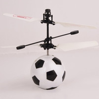 Wholesale Control Floats - Hot sale toy helicopter Football Flying toy infrared Induction Helicoptero Floating UFO Non-Remote Control Drones quadcopter