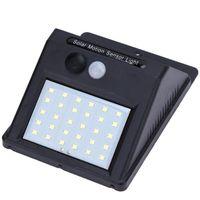 sensor de movimiento de iluminación led al por mayor-LED de energía solar PIR Sensor de movimiento luces de pared alimentado al aire libre impermeable lámpara jardín seguridad noche camino calle corredor