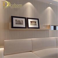moderner tapetenverkauf groihandel-Moderne Minimalistische Stil Tapeten Gestreiften Einfarbig Vlies Tapete Wohnzimmer Tv Sofa Hintergrund Wandverkleidung R521