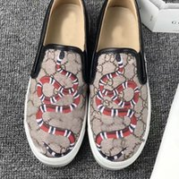 lüks düğün çiçekleri toptan satış-Tasarımlar Ayakkabı Mokasen Elbise Ayakkabı Çiçek baskı Sneaker Lüks Parti Düğün Rahat Ayakkabılar Boyutu 35-41