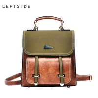Wholesale purses for teenagers - LEFTSIDE Cute Small Leather Travel Backpack Purse Retro Style Backpacks For College School Students Teenager Christmas Gift