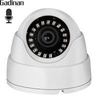 Wholesale dome camera audio - GADINAN Wide Angle 2.8mm Lens Internal Audio Dome IP Camera 720P 960P Hi3518EV200 Built-in Microphone DC 12V 48V PoE Optional
