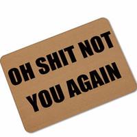 tapetes de borracha antiderrapante venda por atacado-Capachos de Halloween Engraçado Cozinha Tapete Tapetes de Porta de Decoração Para Casa Mágica Bem-vindo Tapetes Tapetes Varanda Por Frente navio da gota de borracha anti derrapante