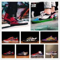 ingrosso gli uomini di ferro si alzarono-2018 Marvel Canvas Shoes Hulk Capitan America Deadpool Iron Man Black Panther Spider-Man Scarpe Casual Designer Thanos