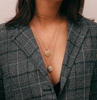 ingrosso articoli di marca-2018 marchio popolare accessori nuovo oggetto Esplosione vintage incisione gioielli punto Collana pendente multistrato in lega