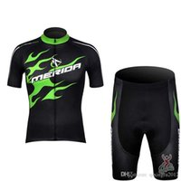 Wholesale merida clothes resale online - New Merida Cycling jersey Bike Short Sleeve Shirt shorts set mens tour de france cycling Clothing Bicycle quick dry ropa ciclismo F2150