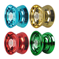 Wholesale yoyo for kids for sale - Group buy 4 Colors Magic Yoyo Responsive High speed Aluminum Alloy Yo yo CNC Lathe with Spinning String for Boys Girls Children Kids