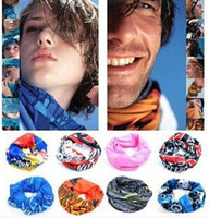 Wholesale hip hop bandanas - Hot sale Multi-function Tube Outdoor Real Print Force Windproof Hip Hop Scarf Veil Sniper Neckerchief Bandanas Headwear Headband