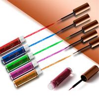 Wholesale metallic eye pencil for sale - NICEFACE Glitter Eyeliner Waterproof Makeup Eye Liner Pencils Long Lasting Metallic Shimmer Brand Liquid Eyeliner