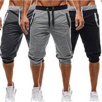 Wholesale cotton slacks men - New Fashion Mens Baggy Jogger Casual Slim Harem Short Slacks Casual Soft Cotton Trousers Shorts