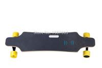 Wholesale electric skateboard motor online - Dual drive completed electric skateboard longboard mm hub motor mm wheel AH li ion Battery mini remote