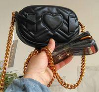 Wholesale leather fanny packs - Women leather waist bag luxury brand designer belt bag men waist pack pouch women fanny pack belly bags small money phone handy bag