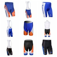 Wholesale bike riding padded shorts resale online - RABOBANK NETAPP team Cycling bib shorts Men Outdoor Bike Bicycle D Padded Riding XS XL ropa ciclismo hombre D1013