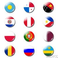 manyetik bayrak toptan satış-12 adet Palau Bayrağı 25 MM Buzdolabı Mıknatısı Panama Paraguay Peru Polonya Bayrağı Hediye Cam Not Tutucu Manyetik Buzdolabı Çıkartm ...