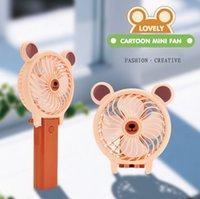 Wholesale rabbit fan resale online - USB Desktop Folding Charging Fan Portable Mini Portable Fan Summer Cartoon USB Fan Rabbit