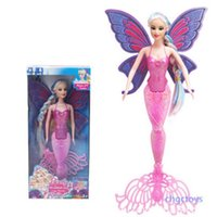 Wholesale diy princess girl gifts - Classic Mermaid Doll With Butterfly Wing Girls Toy Color Fashion Princess Dolls Birthday Gift Toys Hot Sale 10zp WW