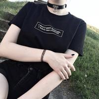 neue gefühle kleidung großhandel-Das T-Stück der Frauen kommen neue beiläufige Art-Hip Hop-T-Shirts an Ich will nicht Gefühle, die ich neue Kleidung T-Shirt Hipster-Unisexmädchen-Tumblr-Grafik-Ausstattungen will