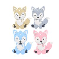 ingrosso bambino di volpe-Infante volpe Teethers silicone alimentare Toddler Animal Soothers baby molar training C5438