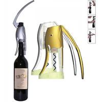 acessório vinho dom venda por atacado-Luxo Elefante Abridor De Vinho Saca-rolhas Com Cortador De Folha Para Barra de Festa de Casamento 2sec Vinho Rápido Acessórios Presentes Caixa de Cor Pacote HH7-401