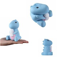 Wholesale kid doll toy online - Squishies Dinosaur Baby Bottle Jumbo Slow Rising Kawaii Scented Kids Squeeze Toys Fun Doll gifts FFA068