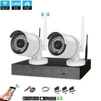 cctv plug play al por mayor-Plug and Play 2CH 1080P HD Inalámbrico NVR Kit P2P Interior al aire libre IR Night Vision Seguridad 2.0MP Cámara IP WIFI Sistema CCTV