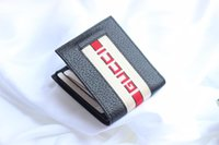 Wholesale mini note cards - Top Quality Men Wallets fashion hot sale brand Man letter real leather mini bag with box #408827 As Original