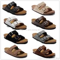 zapatillas eva para hombre al por mayor-22 colores Arizona Venta caliente verano Hombres Mujeres sandalias planas Zapatillas de corcho zapatos casuales unisex imprimir colores mezclados flip flop tamaño 34-46