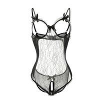 erotische sexy offene frauen großhandel-Heiße Frauen öffnen Büstenhalter-geöffnete Gabelung reizvolles Unterwäsche-Porno Babydoll-Kleid-erotisches Wäsche-Kostüm-exotisches Kleid