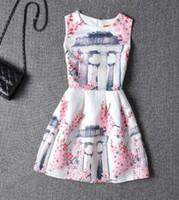 ingrosso organza di stampa floreale-HGFS Women Floral Print Summer Mesh Dress Plum Blossom Fiori casual Abiti in cotone e abito bianco in organza