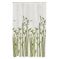 ingrosso bambù spa-Memory Home Bamboo Foto Real Spa Arredamento bagno Collezione speciale Tessuto impermeabile Tenda per doccia Bianco lavabile in lavatrice