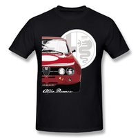 Wholesale alfa red - 2018 New Alfa Romeo T Shirt Custom Men's O-neck Unique Design Fashionable Car T-Shirt Streetwear Camiseta