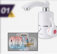 instant warmwasserhähne großhandel-Hochwertige Elektrische Heizung Wasserhahn Instant Heißwasserhahn elektrische wasserhahn wasser
