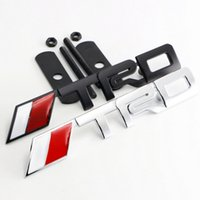 Wholesale Cars Toyota Trd Badges - Chromed Zinc Alloy Car Auto TRD Badge Decal Sticker Emblem Front Grille For Toyota