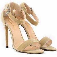 Wholesale Ladies High Heels Size 11 - SEXY PARTY OPEN TOE Women Pumps BRIDAL Flock HIGH HEELS SHOES Ladies SANDALS US SIZE 4-11 8 color 102-3VE