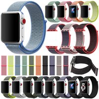 Wholesale Woven Nylon Sport Loop Bracelet Watch Strap Replacement Watch Band For Apple Watch Band Series