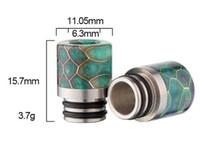 ingrosso belle e sigarette-Vaporizzatore 510 punte a goccia in resina a nido d'ape Pretty Pattern Wide Bore Bocchino e sigaretta