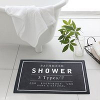 portes de toilette achat en gros de-60 * 40cm salle de bain tapis de douche - 3 couleurs noir gris blanc tapis de bain - Home Decor porte tapis de sol tapis pour toilette antidérapant
