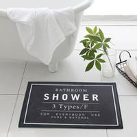 ingrosso toilette bianca nera-60 * 40cm Tappeto da bagno Tappetino da doccia Tappeto da pavimento - Tappetino da bagno bianco grigio nero - Tappeto da bagno Tappeto da porta per la casa Non scivolare