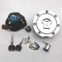 ingrosso interruttore del combustibile del motociclo-Nuovo interruttore di accensione del motociclo tappo del serbatoio del carburante serratura chiave set per Honda CBR600RR 2007-2013 CBR1000RR 2008-2013