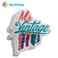 özel etiket baskısı toptan satış-Yapıştırıcı için en iyi satış Su Geçirmez Renkli Vinil Sticker, özel Kalıp Kesim Etiket Etiket baskı ile yüksek kalite