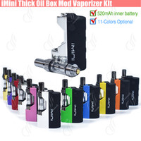 Wholesale plastic kit boxes - Original imini Thick oil Cartridges Vaporizer Kit 500mAh Box Mod Battery 510 Thread New Liberty V1 Tank Wax Atomizer vape pen Starter vapor