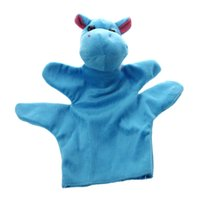 bauernhof zoo tier spielzeug großhandel-Nettes Baby Kind Zoo Farm Animal Hand Socke Handpuppe Finger Sack Plüschtier NewModel: Hippo